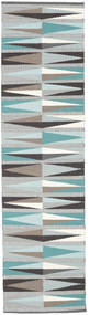 Terence Rug 80X300 Authentic  Modern Handwoven Hallway Runner  Light Grey/Light Blue (Wool, India)