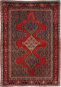 Senneh Matto 122X177 Itämainen Käsinsolmittu Tummanpunainen/Tummanruskea (Villa, Persia/Iran)