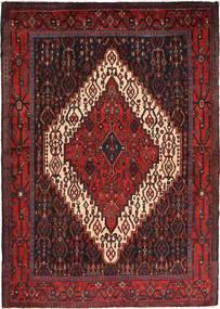 Senneh Matto 122X171 Itämainen Käsinsolmittu Tummanpunainen/Tummanruskea (Villa, Persia/Iran)