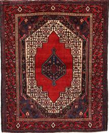 Senneh Rug 126X158 Authentic  Oriental Handknotted Dark Red (Wool, Persia/Iran)