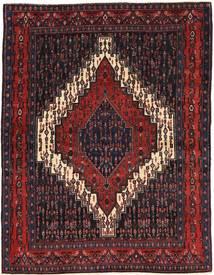 Senneh Matto 122X160 Itämainen Käsinsolmittu Tummanpunainen (Villa, Persia/Iran)