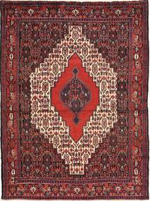 Senneh Rug 122X162 Authentic  Oriental Handknotted Dark Red/Light Pink (Wool, Persia/Iran)