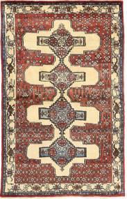 Senneh Tapete 100X153 Oriental Feito A Mão Bege/Castanho Claro (Lã, Pérsia/Irão)