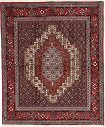 Senneh Teppe 120X145 Ekte Orientalsk Håndknyttet Mørk Rød/Lysbrun (Ull, Persia/Iran)
