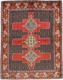 Senneh Matto 123X157 Itämainen Käsinsolmittu Vaaleanruskea/Tummanruskea (Villa, Persia/Iran)