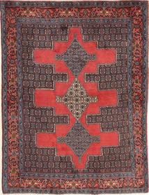 Senneh Rug 121X160 Authentic  Oriental Handknotted Dark Red/Dark Brown (Wool, Persia/Iran)