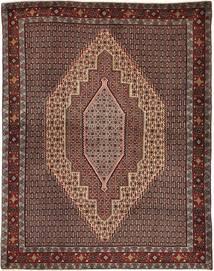 Senneh Teppe 127X160 Ekte Orientalsk Håndknyttet Mørk Rød/Mørk Brun (Ull, Persia/Iran)