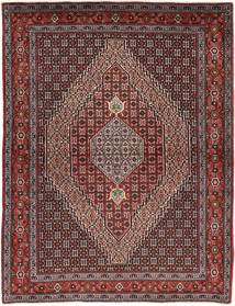 Senneh Rug 125X165 Authentic  Oriental Handknotted Dark Red/Light Brown (Wool, Persia/Iran)