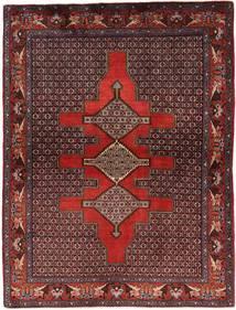 Senneh Matto 121X168 Itämainen Käsinsolmittu Tummanpunainen/Tummanruskea (Villa, Persia/Iran)