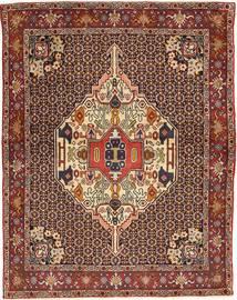 Senneh Tapis 120X155 D'orient Fait Main Marron Foncé/Rouge Foncé (Laine, Perse/Iran)