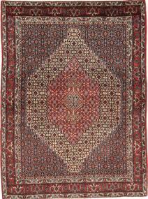 Senneh Tæppe 125X170 Ægte Orientalsk Håndknyttet Mørkerød/Mørkebrun (Uld, Persien/Iran)