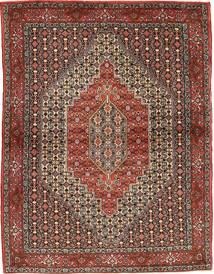 Senneh Rug 117X158 Authentic  Oriental Handknotted Dark Brown/Dark Red (Wool, Persia/Iran)