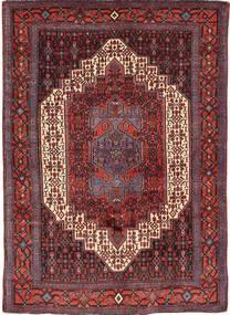 Senneh Covor 120X165 Orientale Lucrat Manual Roșu-Închis/Maro (Lână, Persia/Iran)