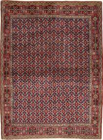 Senneh Rug 121X166 Authentic  Oriental Handknotted Dark Red/Light Brown (Wool, Persia/Iran)