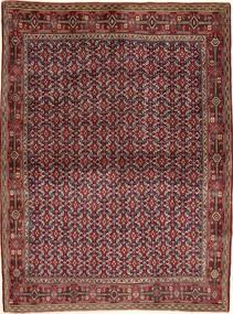 Senneh Matto 121X166 Itämainen Käsinsolmittu Tummanpunainen/Ruskea/Vaaleanruskea (Villa, Persia/Iran)