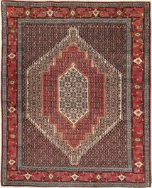 Senneh Matto 124X156 Itämainen Käsinsolmittu Vaaleanruskea/Tummanruskea (Villa, Persia/Iran)