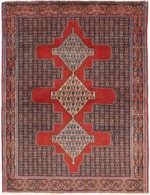 Senneh Tapis 120X157 D'orient Fait Main Rouge Foncé/Marron Foncé (Laine, Perse/Iran)