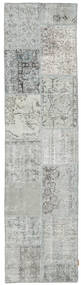 Patchwork Rug 78X304 Authentic  Modern Handknotted Hallway Runner  Light Grey (Wool, Turkey)