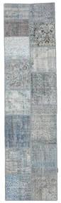 Patchwork Szőnyeg 79X301 Modern Csomózású Világosszürke/Világoskék (Gyapjú, Törökország)