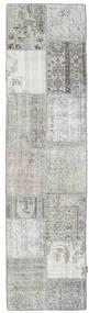Patchwork Rug 79X302 Authentic  Modern Handknotted Hallway Runner  Light Grey (Wool, Turkey)