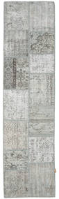 Patchwork Rug 79X302 Authentic  Modern Handknotted Hallway Runner  Light Grey (Wool, Turkey)
