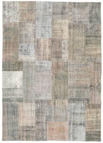 パッチワーク 絨毯 171X241 モダン 手織り 薄い灰色/薄茶色 (ウール, トルコ)