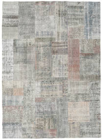 Patchwork Rug 173X240 Authentic  Modern Handknotted Light Grey (Wool, Turkey)