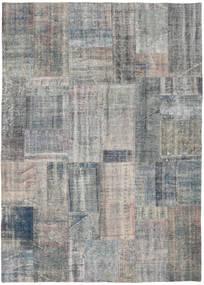 Patchwork Rug 174X243 Authentic  Modern Handknotted Light Grey/Dark Grey (Wool, Turkey)