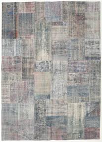 Patchwork Rug 174X242 Authentic  Modern Handknotted Light Grey/Dark Grey (Wool, Turkey)