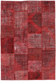 Patchwork Rug 157X228 Authentic  Modern Handknotted Dark Red/Crimson Red (Wool, Turkey)