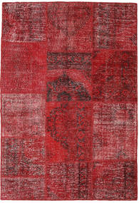 Patchwork Teppich  158X230 Echter Moderner Handgeknüpfter Dunkelrot/Rot (Wolle, Türkei)