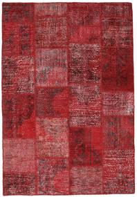 Patchwork Teppich  157X230 Echter Moderner Handgeknüpfter Dunkelrot/Rot (Wolle, Türkei)