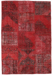 Patchwork Rug 158X232 Authentic  Modern Handknotted Dark Red/Crimson Red (Wool, Turkey)