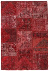 Patchwork Teppich  158X232 Echter Moderner Handgeknüpfter Dunkelrot/Rot (Wolle, Türkei)