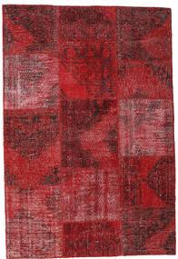 Patchwork Alfombra 158X232 Moderna Hecha A Mano Rojo Oscuro/Roja (Lana, Turquía)