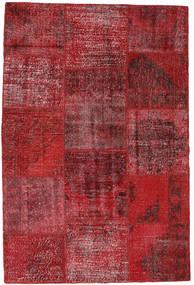 Patchwork Matto 158X235 Moderni Käsinsolmittu Tummanpunainen/Punainen (Villa, Turkki)