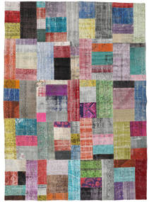 Patchwork Rug 8′3″x11′6″ Authentic  Modern Handknotted Light Grey/Light Blue Large (Wool, Turkey)