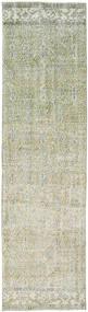 Colored Vintage Teppich 80X293 Echter Moderner Handgeknüpfter Läufer Hellgrau/Dunkel Beige (Wolle, Türkei)