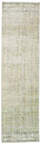 Colored Vintage Rug 79X293 Authentic  Modern Handknotted Hallway Runner  Light Grey/Beige (Wool, Turkey)