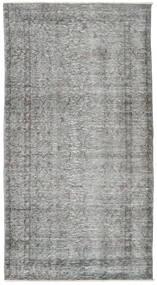 Colored Vintage Rug 108X202 Authentic  Modern Handknotted Light Grey/Dark Grey (Wool, Turkey)