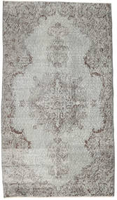 Colored Vintage Rug 113X200 Authentic  Modern Handknotted Light Grey/Beige (Wool, Turkey)