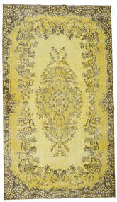 Colored Vintage Rug 172X305 Authentic  Modern Handknotted Yellow/Olive Green (Wool, Turkey)