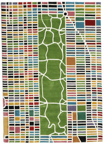 New-York/Manhattan Handtufted - Multi Rug 160X230 Modern Dark Green/White/Creme (Wool, India)