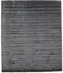 Bamboe Zijde Loom - Houtskool Vloerkleed 250X300 Modern Donkergrijs/Purper Groot ( India)