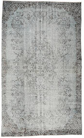 Colored Vintage Rug 162X275 Authentic  Modern Handknotted Light Grey/Turquoise Blue (Wool, Turkey)