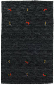 Gabbeh Loom Two Lines - Black/Grey Rug 100X160 Modern Black (Wool, India)