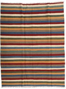 Kelim Matto 173X221 Itämainen Käsinkudottu Vaaleanruskea/Tummanpunainen (Villa, Persia/Iran)
