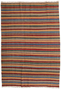 Kilim Rug 163X235 Authentic  Oriental Handwoven Dark Grey/Dark Red (Wool, Persia/Iran)