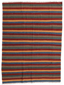 Kilim Rug 166X223 Authentic  Oriental Handwoven Dark Red/Dark Grey (Wool, Persia/Iran)
