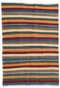 Kilim Dywan 113X178 Orientalny Tkany Ręcznie Jasnobrązowy/Czarny (Wełna, Persja/Iran)